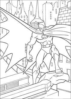Batman Fargelegging for barn. Tegninger for utskrift og fargelegging nº 54
