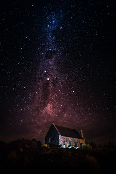 ♂ darkness Church of the Good Shepherd under star night