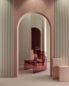 brazil-based multidisciplinary designer artur de menezes has designed a glass chair with iridescent surfaces to give the piece an 'oil slick' effect. Glass Chair, Interior Inspiration, Design Inspiration, Estilo Tropical, Art Deco, Scandinavian Furniture, The Design Files, Decoration Design, Design Studio