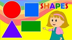 A Fun Simple Childrens Video to Learn Shape Names for Preschool, Kindergarten…