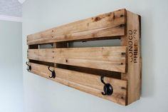 Three Space-Saving Solutions Using Pallets - This coat rack is made out of Pallets. A great idea for DIY apartment Decor.