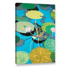 "Bungalow Rose Michelle's Secret Pond Framed Painting Print on Wrapped Canvas Size: 48"" H x 32"" W x 2"" D"