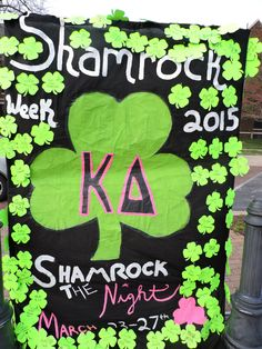 Sell small shamrocks to raise donations and pin them to the event banner! #alphapsi