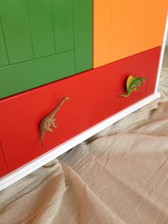 We Seriously have the most AMAZING customers EVER! Check out these Gems, from a someone who bought our dinosaur cupboard knobs to finish off a wardrobe. It puts our Boring white display cupboard to shame and takes the Dinosaurs to a whole new level! AWESOME work Candy Queen customer, we LOVE it!!  x