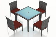 Harmonia Living District 5 Piece Patio Dining Set in Canvas Henna >>> You can find out more details at the link of the image.(This is an Amazon affiliate link and I receive a commission for the sales) #PatioFurnitureandAccessories
