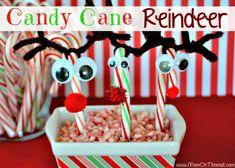 Candy Cane Reindeer ~ ♥ #christmas #recipes #crafts #diy