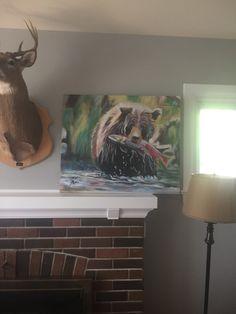 Bear on acrylic, 24 Kim Campbell, Art Gallery, My Arts, Bear, Painting, Art Museum, Painting Art, Bears, Paintings