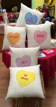 Conversation Heart Pillow, Valentines Day Gift, Valentine Decor,Valentine Pillow,Valentines Day,Valentines Decoration,