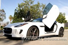 Bring your Jaguar F-Type to Vertical Doors for In-House Installation of Awesome lambo doors kit & auto parts with the World's Best Service.  For more details, Contact us at 951.273.1069  #jaguar #ftype #cars #lambodoors #autoaccessories #sales #inhouseinstallation #strongest #madeinusa #bestprice #verticaldoors #verticaldoorsinc