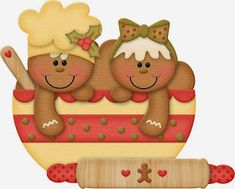"""Photo from album """"Jss_gingerrific"""" on Yandex. Christmas Clipart, Christmas Gift Tags, Christmas Printables, Christmas Crafts, Xmas, Christmas Ornaments, Christmas Cartoons, Gingerbread Ornaments, Gingerbread Decorations"""