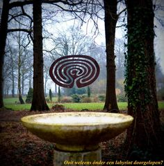Floating labyrinth Lochem Netherlands photo by Astrid Van Den Berg Labyrinth Tattoo, Labyrinth Maze, Source Of Inspiration, Garden Inspiration, Labrynth, Garden Of Earthly Delights, Medicine Wheel, Ancient Symbols, Environmental Art