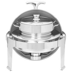 Maxam Heavy-Duty Stainless Steel Round Soup Chafing Dish with Roll Top for Professional Use ** Unbelievable  item right here! : Specialty Cookware