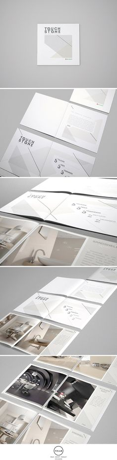 Brochure Design and Interior 3D rendering to promote Touch Stone Collection by Niro Granite. Editorial Design and 3D by VXLAB. www.vxlab.org