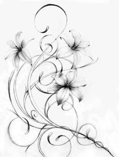 This would be a nice hip tattoo. Lily Flower Tattoos, Flower Tattoo Drawings, Tattoo Flowers, Arm Tattoo, Body Art Tattoos, Sleeve Tattoos, Tatoos, Lily Tattoo Design, Tattoo Designs