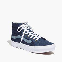 7207144e1a4 Madewell x Vans® Sk8-Hi Slim High-Top Sneakers in Denim Low Rise
