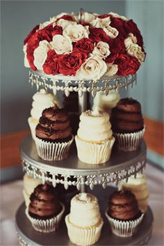 Wedding cupcakes from Gigi's Cupcakes- another tower example