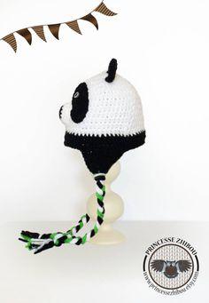 PRÊT À PARTIR Bonnet de panda noir et blanc au par PrincesseZhibou Enfant 2  Ans, d8218e1f247