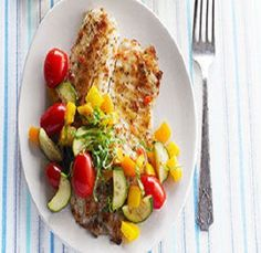 Quick Italian Fish Meal is a quick 30 minute recipe for a delicious and healthy meal. Fish filets with zucchini, tomatoes and bell peppers are all seasoned and sauteed in a skillet. It is also a healthy, low calories, low fat, low cholesterol, low sodium, low carbohydrates, low sugars, heart-healthy, diabetic-friendly and Weight Watchers (4) PointsPlus recipe. Makes (4) servings.