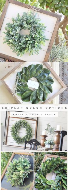 Shiplap Art & Mini Eucalyptus OR Magnolia Wreath - Small - Reclaimed Wood - Handmade - Farmhouse - Home Decor - Custom Pieces - Spring - Living Room - Style - Kitchen - Modern - Joanna Gaines - Rustic - Country - Vintage - Ideas - Kitchen Decor M Diy Home Decor Rustic, Handmade Home Decor, Home Decor Kitchen, Farmhouse Decor, Kitchen Modern, Farmhouse Style, Kitchen Small, Kitchen Rustic, Kitchen Ideas
