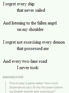 Supernatural poem