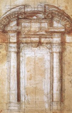 Michelangelo, Study for the Porta Pia, c. 1561