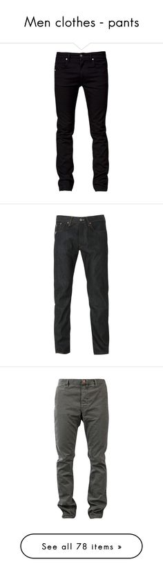 """""""Men clothes - pants"""" by nika-love ❤ liked on Polyvore featuring jeans, men, pants, bottoms, guy, black jeans, mens jeans, black skinny jeans, tiger of sweden and skinny jeans"""