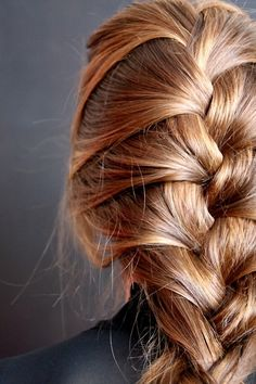 A loose French braid perfect for a lazy weekend.