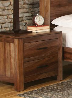 :: Wildon Home ® Peyton 2 Drawer Nightstand :: Bedroom Furniture, Home Furniture, Garden Furniture, Coaster Fine Furniture, 2 Drawer Nightstand, Bedside, Stylish Bedroom, Brown Wood, Contemporary Furniture