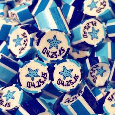 Wedding souvenirs  Custom Design Candies  0917-87CANDY 0932-87CANDY #twistedcandy #twistedcandyph #Handmade #smnorthedsa #robinsonsgalleria #giveaways #sweetsouvenirs #foodie #foodlover #instafood #starfish Candy May, Sugar, Cookies, Instagram Posts, Desserts, Handmade, Food, Design, Crack Crackers