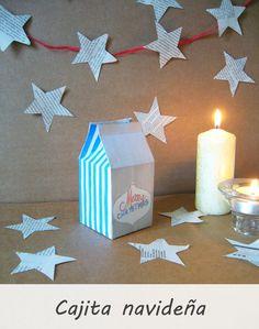 DIY navideño / caja de cartulina + imprimible de regalo http://patriblanco-patricia.blogspot.com.es/2014/12/diy-navidad.html