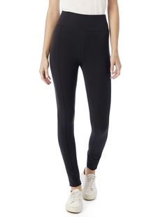 The perfect companion for your tees, tanks and tunics, these high-waisted leggings will hug and slim your shape in soft, comfortable Spandex Jersey.