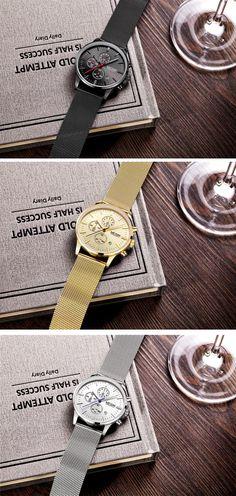 men's stainless steel band luxury watches - Megir chronograph sport watch timepiece - Men's style brand fashion accessories #menswatch #steelwatch