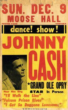 Johnny Cash concert poster