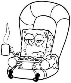 Spongebob Sick Coloring Page