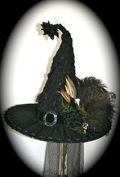 Wicked Handmade Victorian Witch Hat Vintage by StudioSisu on Etsy