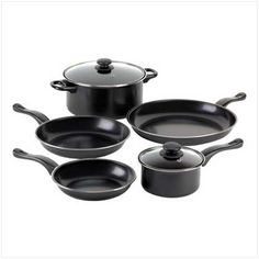 Graphite Nonstick Kitchen Cookware 7 Piece Pot Pans Set Manufactured to the Highest Quality Available.. Design is stylish and innovative. Satisfaction Ensured.. Great Gift Idea..  #FurnitureCreations #Kitchen