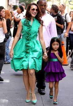 Kristen Davis with her on screen daughter