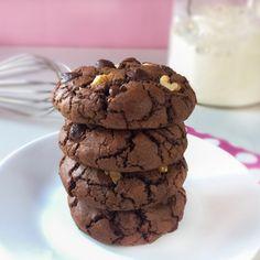 Galletas de Brownie Brownie Shop, Brownie Cookies, Chocolate Cookies, Cake Cookies, Cupcakes, Baking Packaging, Super Cookies, Decadent Cakes, Desert Recipes