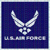 U.S. AIR FORCE Graphghan Pattern - via @Craftsy