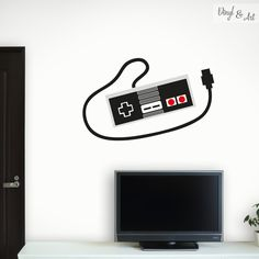 Vinilo Adhesivo Decorativo Juvenil - Mando Nintendo NES www.vinylandart.com