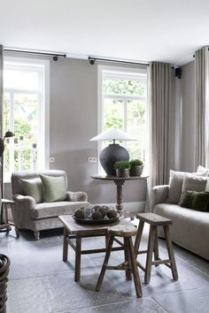 ○ neutral home nirvana ○ House of Peter and Marjanne - lovely neutrals Gray Interior, Interior Exterior, Home Interior, Interior Design, My Living Room, Home And Living, Living Area, Living Spaces, Greige