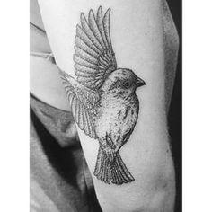 Pájaro | 50 tatuajes hechos con puntos que son realmente impresionantes