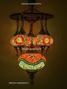 Lights & Lighting Dedicated Beautiful Amber Glass Pendant Light Chandelier Turkish Style Art Decor Blown Glass Chandelier Modern Crystal Led Ac Ceiling Lights & Fans