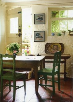 The Kitchen at Monk's House, East Sussex. Monk's House was the writer Virginia Woolf's country home and retreat.The World of Interiors, June 2012. Photo - Caroline Arber