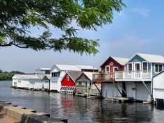 Boathouses on Canandaigua Lake