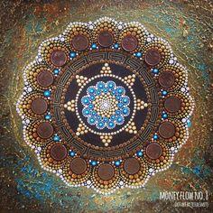 abstract dot art painting MONEY FLOW NO8 Tessa Smits full