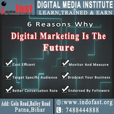 Why is digital marketing a big deal? Affiliate Marketing, Social Media Marketing, Digital Marketing, Marketing Training, Training Programs, Digital Media, Search Engine, Web Design, Learning