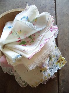Vintage Handkerchiefs Hankies Accessories For by SPARKLESandSASS
