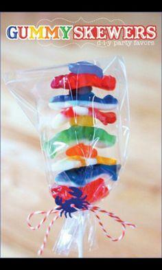 Gummy skewers