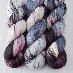 Morticia is dark and glamorous in grey-blue, cream, brownish-black, and plummy purple. Pairs with Gomez for love at its darkest! This colorway is a Ba Wall Hanging Crafts, Yarn Wall Hanging, Macrame Supplies, Thanksgiving Preschool, Craft Online, Yarn Inspiration, Yarn Stash, Crochet Yarn, Crochet Stitches